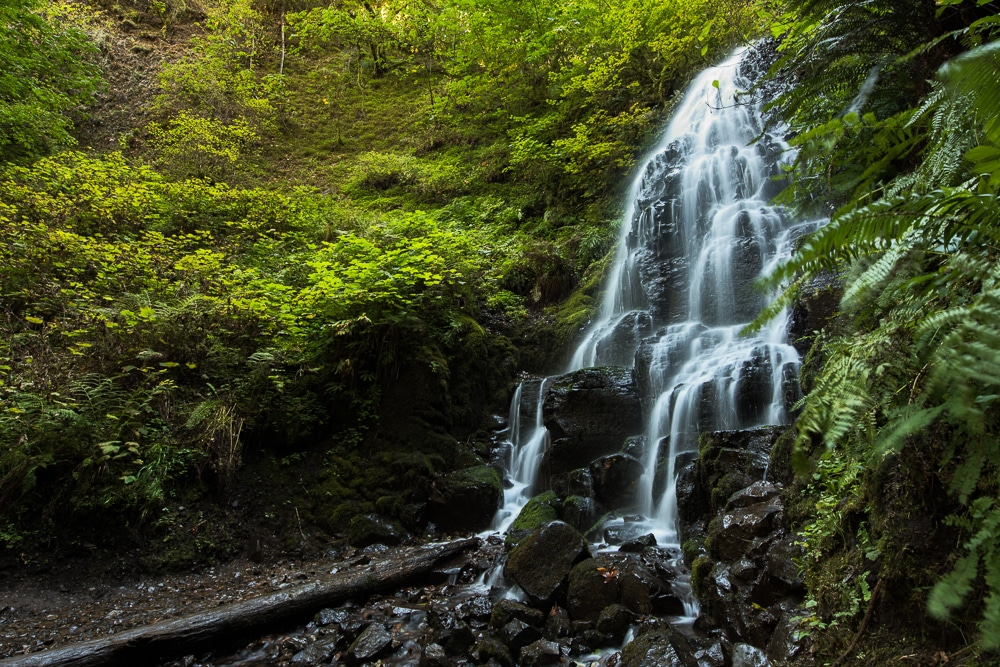 Fairy Falls on a hike which is one of the many things to do on the columbia river gorge